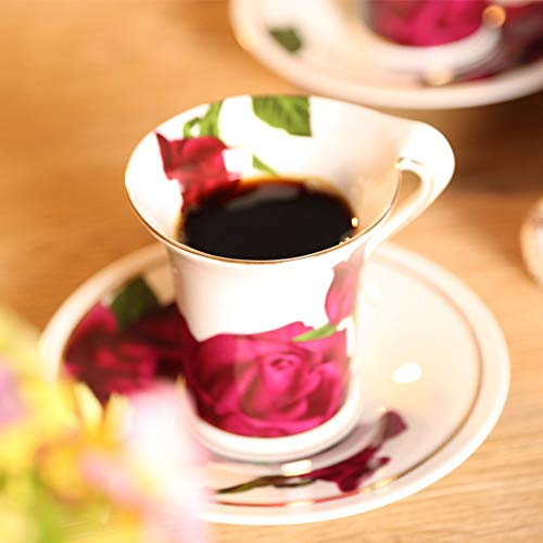 GGsmd Tazza in Ceramica Ceramica Bone China Mug Tazza Colazione Disegni Animati Latte Tazza da caffè Ufficio Tazza Acqua Rosa Bianca