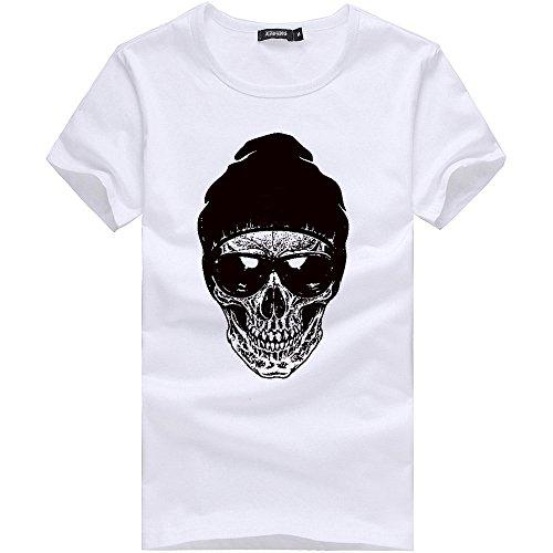 Verano Camiseta de Manga Corta para Hombre Moda Estampado...