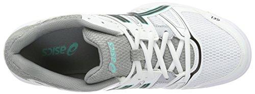 Asics Damen Gel-Rocket 7 Volleyball-Schuhe Mehrfarbig (White / Black / Cockatoo)