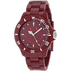 "Smiley ""Happy Time"" Men's Urban Dark Red Analogue Watch WGS-UDRV01"