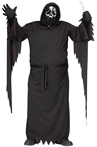 Fun World Costumes Ghost Face Scream Halloween-Lizenzkostüm 25-Jähriges Jubiläum Plus Size Schwarz-Silber XL / XXL