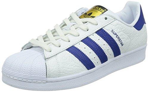 adidas Herren Superstar Animal Sneakers Wei