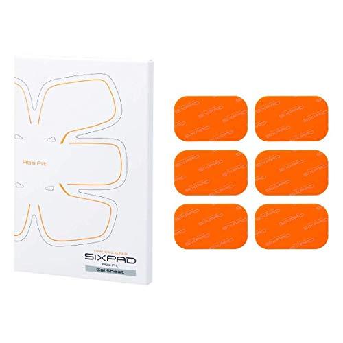 SIXPAD ABS Fit Gel Sheets, Elettrostimolatore Unisex – Adulto, Arancione, Taglia Unica