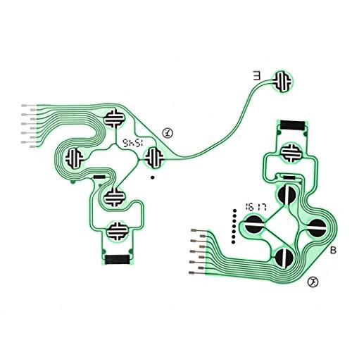 JunYe Conductive Controller Film Tastatur Flexkabel PieceB JDS-030 Slim Platine Ersatzknöpfe Tape für Sony Playstation 4 PS4 (Sony Tape-adapter)