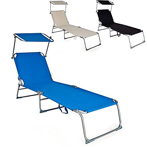 Chaise Longue A Bascule Jardin - TecTake Chaise Longue Pliante Bain de Soleil