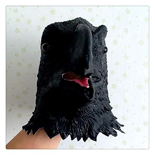 Z-one 1 Deluxe Halloween-Kostüm Party Latex Vogel Kopfmaske Linnet Pest Doctor Schnabel Faux Gothic Retro Papageienfeder Vogel Maske (schwarz)
