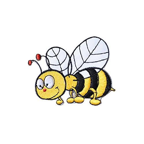 CAOLATOR Biene Aufnäher Patch Aufkleber Nadelarbeiten Sticker Tier Aufbügeln DIY Kleidung Applikation Patches Flicken für T-Shirt Jeans Taschen Schuhe Hüte -