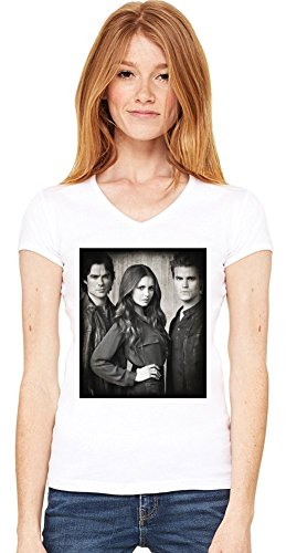 The Vampire Diaries Damen V-Ausschnitt T-Shirt Medium