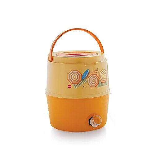 Cello Kool Star Plastic Insulated Water Jug, 5 litres, Orange