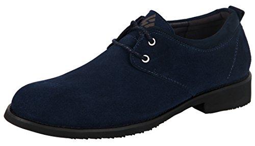 iLoveSIA Herren Brogue Schnürhalbschuhe, Mehrfarbig - Blue New Suede Oxford - Größe: 42