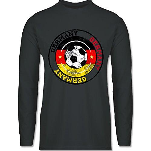 Shirtracer Fußball-WM 2018 - Russland - Germany Kreis & Fußball Vintage - Herren  Langarmshirt