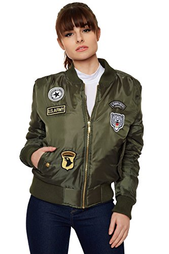 wearall-womens-combat-badge-air-force-army-long-sleeve-vintage-ladies-bomber-jacket-green-8-10