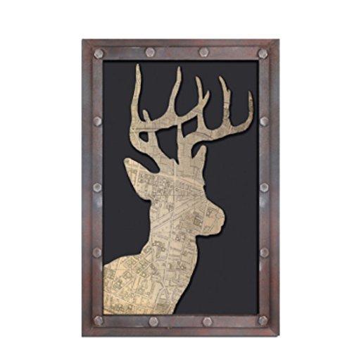 er Zeichen Retro Vintage Holz Schatten Sohle, einzig, alleinig Hirsch ()