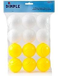 Lot de 12boules en plastique pour enfant jouet–également pour une utilisation avec la power-pro Baseball Montage Machine par Dimple
