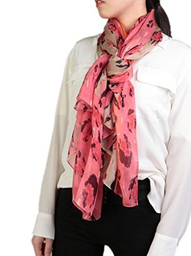Prettystern xxl 180/110 cm leggera sciarpa di 100% seta pareo primavera estate fiori stripe pittura ispirata colorata leo y01