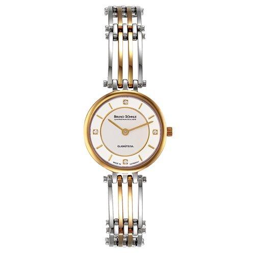 Bruno Söhnle Damen Analog Quarz Uhr mit Edelstahl beschichtet Armband 17-23103-242