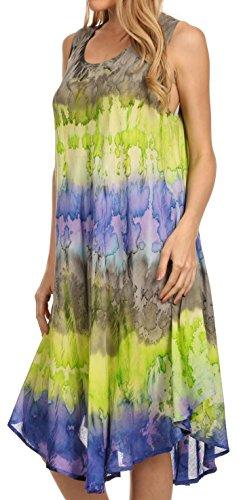 Sakkas sole del deserto caftano vestito o cover-up per le donna Carbone / Verde