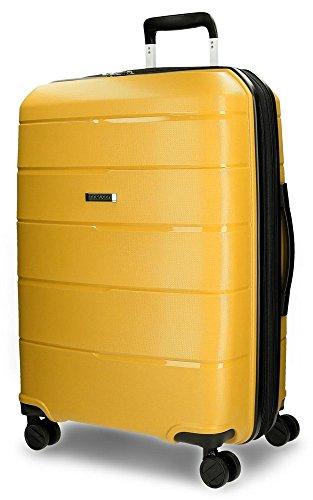 Maleta rígida amarilla. Maleta de viaje amarilla