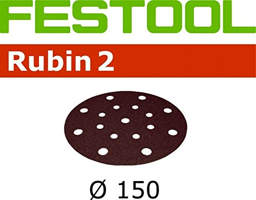 50x Festool Schleifscheiben STF D150/16 P60 RU2/50 Rubin 2 - 70062982x50