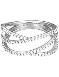 Esprit Damen-Ring 925 Sterling Silber Zirkonia brilliance weiß