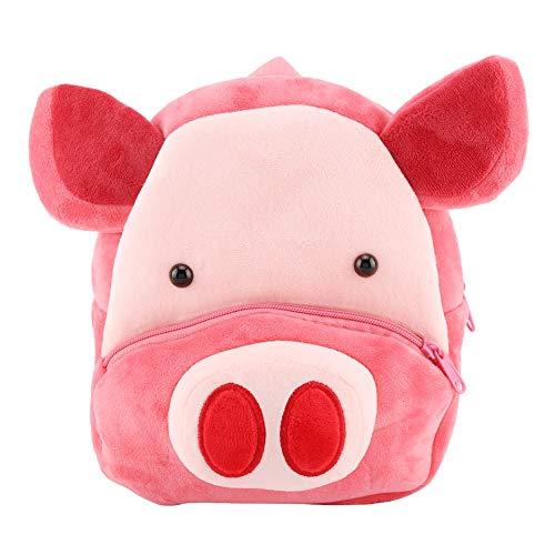 Baby-Plüsch-Tierrucksack-Vorschulbeutel für Kleinkind-Karikatur-Reise-Mittagessen-Beutel für Kinder (Plüsch-schwein Hat)