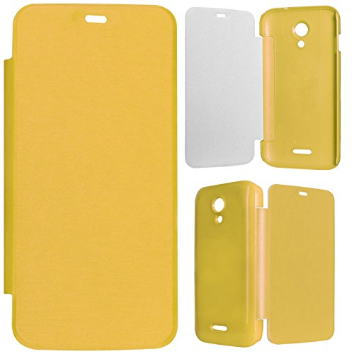 DMG Durable Protective PU Leather Flip Book Cover Case for Micromax Canvas A114 2.2 - Yellow  available at amazon for Rs.199
