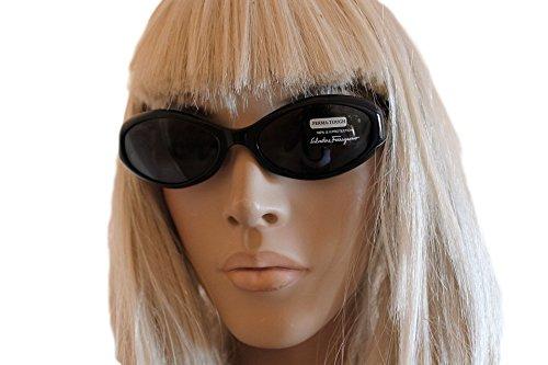 occhiali-da-sole-salvatore-ferragamo-2012-10161-montatura-nera-vintage-rare-sunglasses-lunettes-donn