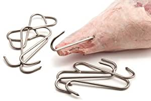 """Meat Hooks Stainless Steel 6"""" - 10 per pack."""