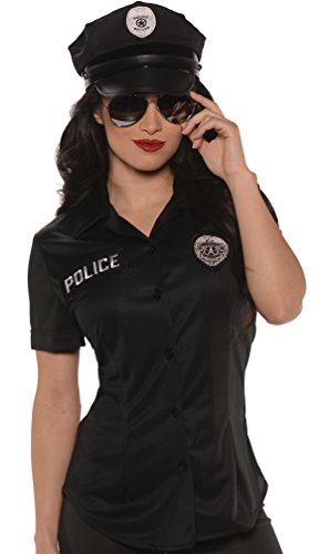 Police Shirt Womens Kostüm - Women's Police Shirt Fancy dress costume Medium