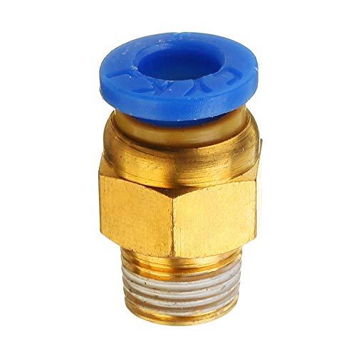 Vpqtettuecu Messing Pneumatik-Anschluss Schnellkupplung 1,75 mm for 3D-Drucker J-Kopf Remote-Extruder 3D-Drucker-Teile Zubehör -