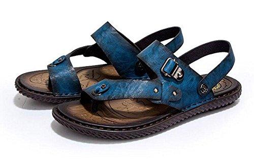 GLTER Männer Flip Flops Sommer Casual Breathable Beach Schuhe Sandalen Hausschuhe Blue Brown Khaki Blue