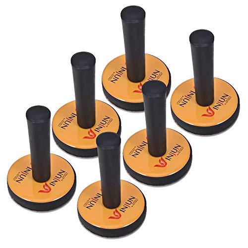 Winjun 6 Stück Magnethalter Montagemagnete Magnet mit Griff mit 6 STK. Ersatz Filz Pad für Autofolie Folierungs Werkzeug