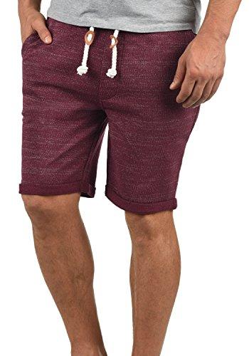 Redefined Rebel Memphis Herren Sweatshorts Kurze Hose Jogginghose aus 100% Baumwolle mit Kordel Regular Fit, Größe:M, Farbe:Bordeaux