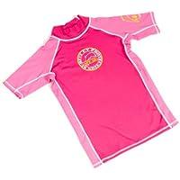 Surfit Girl's Plain - Camiseta para niña, tamaño 10-11, color rosa/azul claro