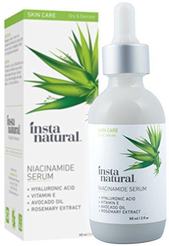 InstaNatural Niacinamid-5% Gesichts-Serum – Anti-Aging Feuchtigkeitsspender mit Vitamin B3....