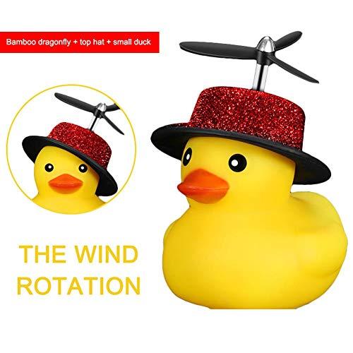 Mirabellini Fahrradklingel Roller Cute Duck Propeller Horn für M365 Scooter Silicone Duckling Bells -