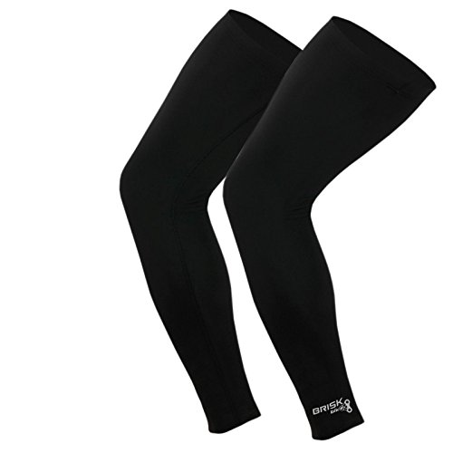 Calf-Compression-Sleeve-Brisk-1-Pair-Shin-Splints-Support-Reduces-Running-Injury-and-Swelling-in-Leg-and-Calves-Best-Alternative-to-Socks-BLACK-SM