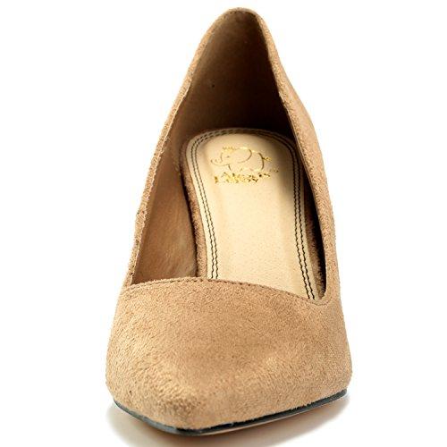 Alexis Leroy Chaussures talon haut fête élégante escarpins de travail femmes Beige