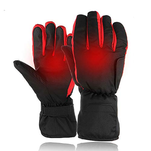 JIMITO Elektrisch Beheizte Handschuhe Akku Winddicht Handwärmer Verdicken Handwärmer für Outdoor Camping Ski Motorrad