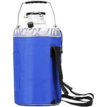 bestequip 3L nitrógeno líquido contenedor tanque de nitrógeno líquido criogénicas contenedor con 3 botes de aleación