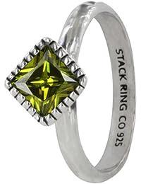 Prima Vintage Stack Ring - Olivine