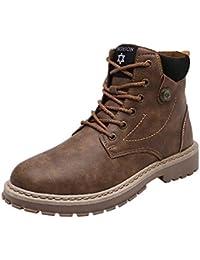 ALIKEEY Los Hombres De Moda De Alta Top Casual Zapatos Botines Zapatos Martin Botas Zapatillas Zapatos MáS Barco Libre Pisos Corriendo Fuera Deportes Adulto