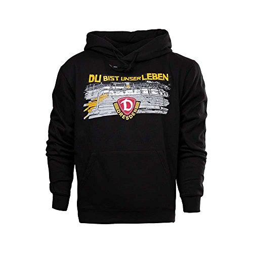 SG Dynamo Dresden Kinder-Kapuzensweater Du bist unser Leben schwarz, Größe:110-116/5-6
