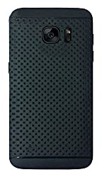 Samsung Galaxy S7 Premium Dotted Design Soft Rubberised Back Cover Easily Apllied and Removed