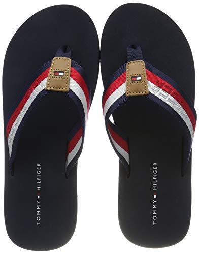 Tommy Hilfiger Corporate Webbing Beach Sandal, Infradito Uomo, Blu (Midnight 403), 42 EU