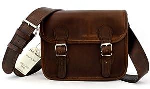 La Borsa a tracolla (S), INDUS borsa pelle vintage, Testa di Moro la borsa a mano, borsa a tracolla, (A4), by BagCentre