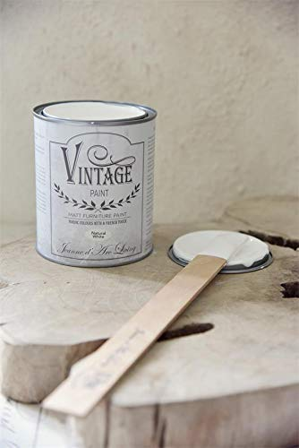 Jeanne d'Arc Living Kreidefarbe, Vintage Paint, Natural White 700ml -