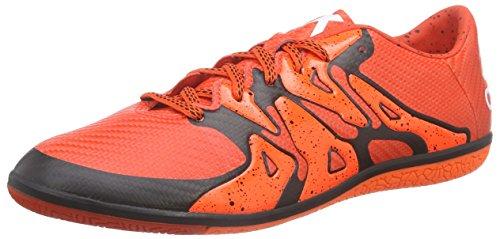adidas X15.3 In, Chaussures de football homme Rouge - Rot (Bold Orange/Ftwr White/Solar Orange)