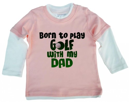 dirty-fingers-born-to-play-golf-with-my-dad-baby-skater-top-pale-pink-white-3-6m