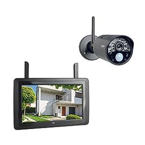 ELRO CZ30RIPS Wireless HD Überwachungskamera Set (7 Zoll Bildschirm)